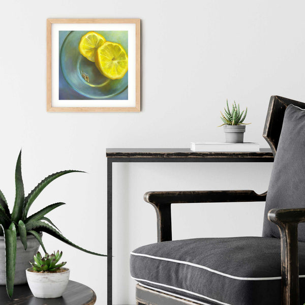 Pip, Pip - Lemon Art Print - Galleria Fresco - food still life by Jo Bradney