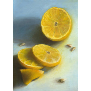 Lemon, Sliced - Citrus Art Print - Galleria Fresco - food still life by Jo Bradney