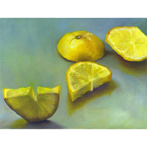 Zest - Lemon Art Print - Galleria Fresco - food still life by Jo Bradney