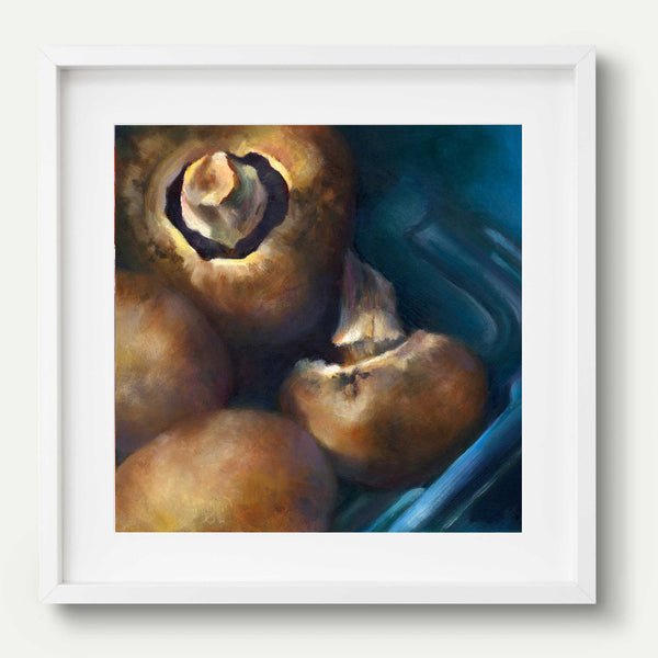 Baby Bella - Mushroom Art Print - Galleria Fresco - food still life by Jo Bradney