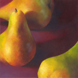 Warm Pears in Burgundy - Art Print - Galleria Fresco