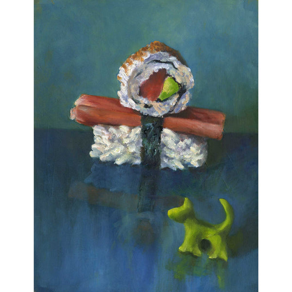 Sushi Boy & Wasabi Dog - Art Print - Galleria Fresco - food still life by Jo Bradney