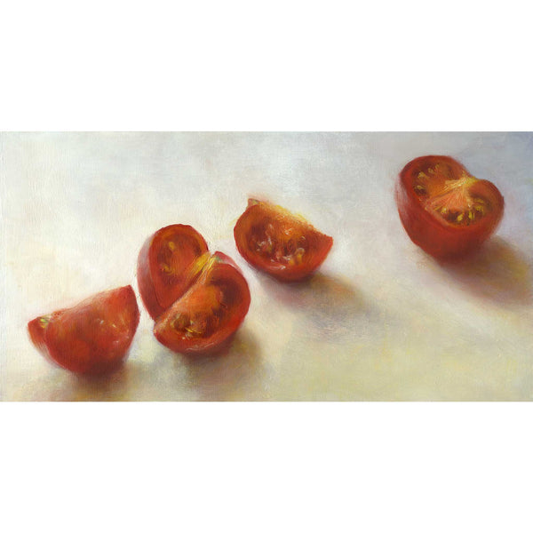 Tomatoes on the March - Art Print - Galleria Fresco - food still life by Jo Bradney