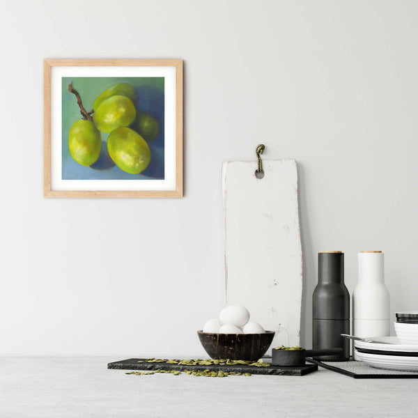 Piquant Posy - Grapes Art Print - Galleria Fresco - food still life by Jo Bradney