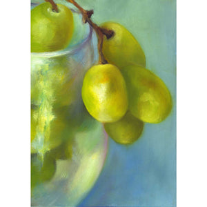 Chardonnay Cluster - Grapes Art Print - Galleria Fresco - food still life by Jo Bradney