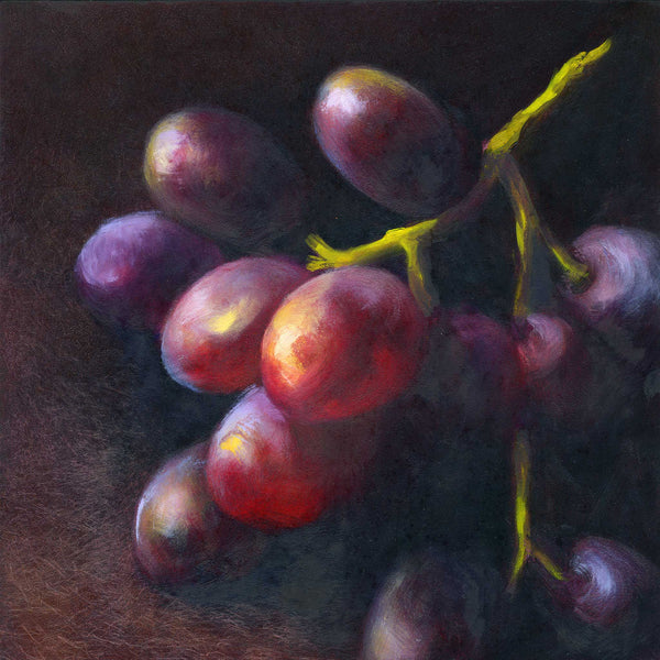 Wine Dark - Grapes Art Print - Galleria Fresco - food still life by Jo Bradney