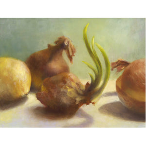 Flourish - Onion Art Print - Galleria Fresco - food still life by Jo Bradney