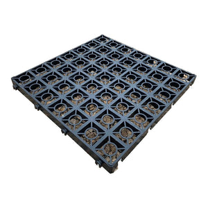 Plastic gravel parking grid