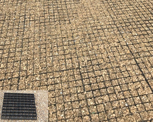 Plastic parking grids for driveways with gravel