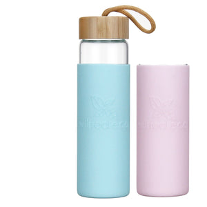 Bundle & Save - 650ml Glass Water Bottle & Extra Sleeve