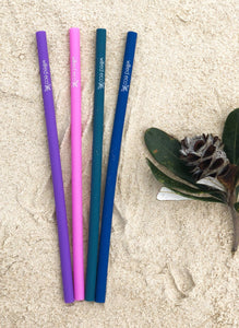 Silicone Drinking Straws - Wilfred Eco - Pink, Purple, Green and Navy.