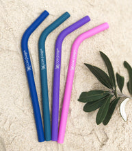 Load image into Gallery viewer, Silicone Smoothie Straws - Bent Reusable - Bold Colours - Wilfred Eco