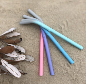 Silicone Smoothie Straws - Wilfred Eco - Pastel Colours