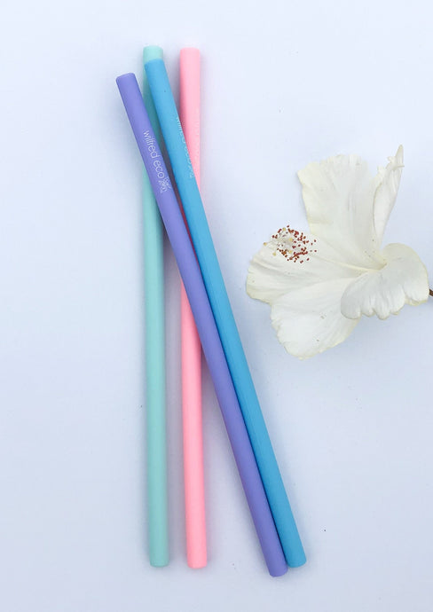 Reusable Silicone Drinking Straws - Wilfred Eco - Pastel Colours