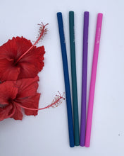 Load image into Gallery viewer, Silicone Drinking Straws - Wilfred Eco - Pink, Purple, Green and Navy