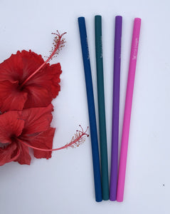 Silicone Drinking Straws - Wilfred Eco - Pink, Purple, Green and Navy