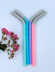 Silicone Smoothie Straw - Multi Colours - Wilfred Eco