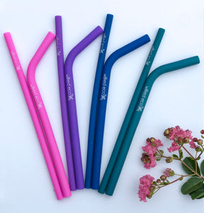 Silicone Drinking Straws - Wilfred Eco - Straight and Smoothie