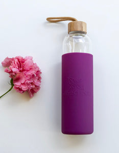 Wilfred Eco 1L Glass Water Drinking Bottle with Bamboo Lid in Australia