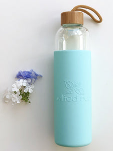 1L Glass water bottle - Glass drinking bottle - Reusable water bottle - Wilfred Eco