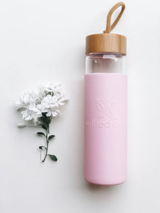 Reusable Glass Drinking Water Bottle Australia - Pink - Wilfred Eco