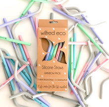 Load image into Gallery viewer, Reusable Straws - Silicone Straws - Smoothie Straws - Wilfred Eco