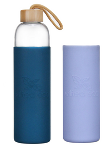 Bundle & Save - 1L Glass Water Bottle & Extra Sleeve