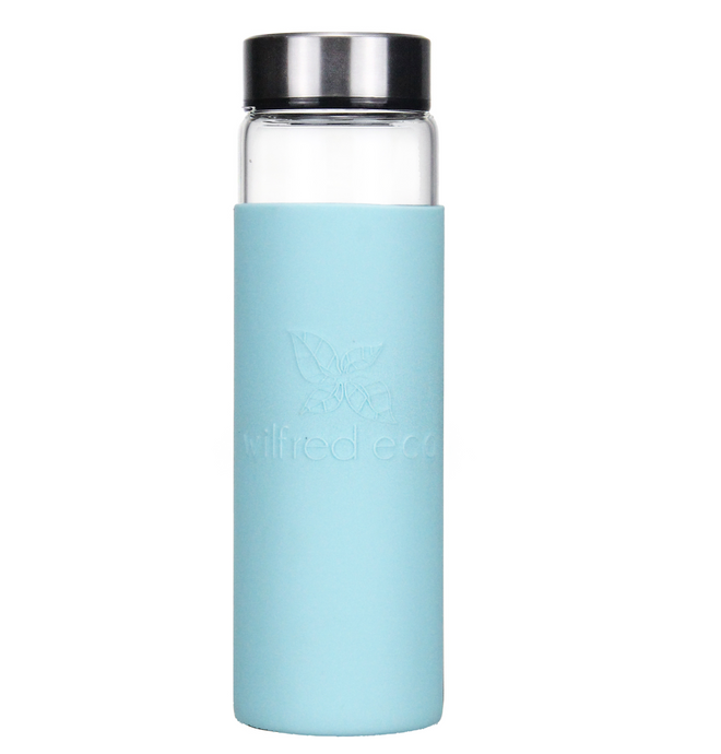 Borosilicate Glass Water Bottle with Stainless Lid- 650ml