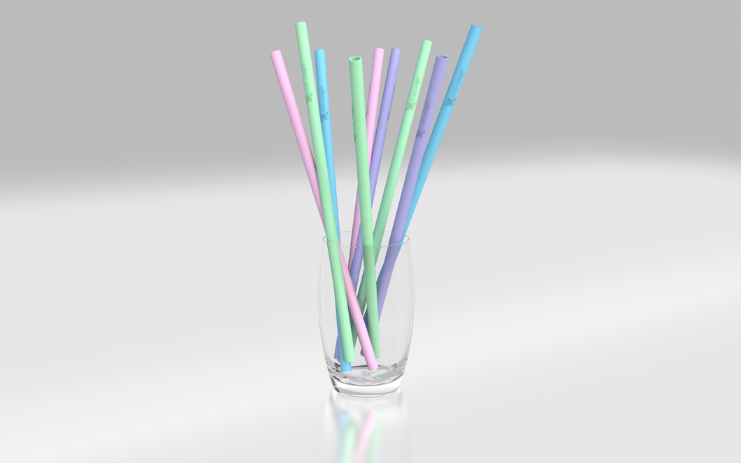 Reusable Silicone Straws Straight in Australia - Rainbow Colours- Wilfred Eco