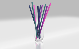 Reusable Silicone Drinking Straws Australia - Navy, Pink, Purple, Green - Wilfred Eco