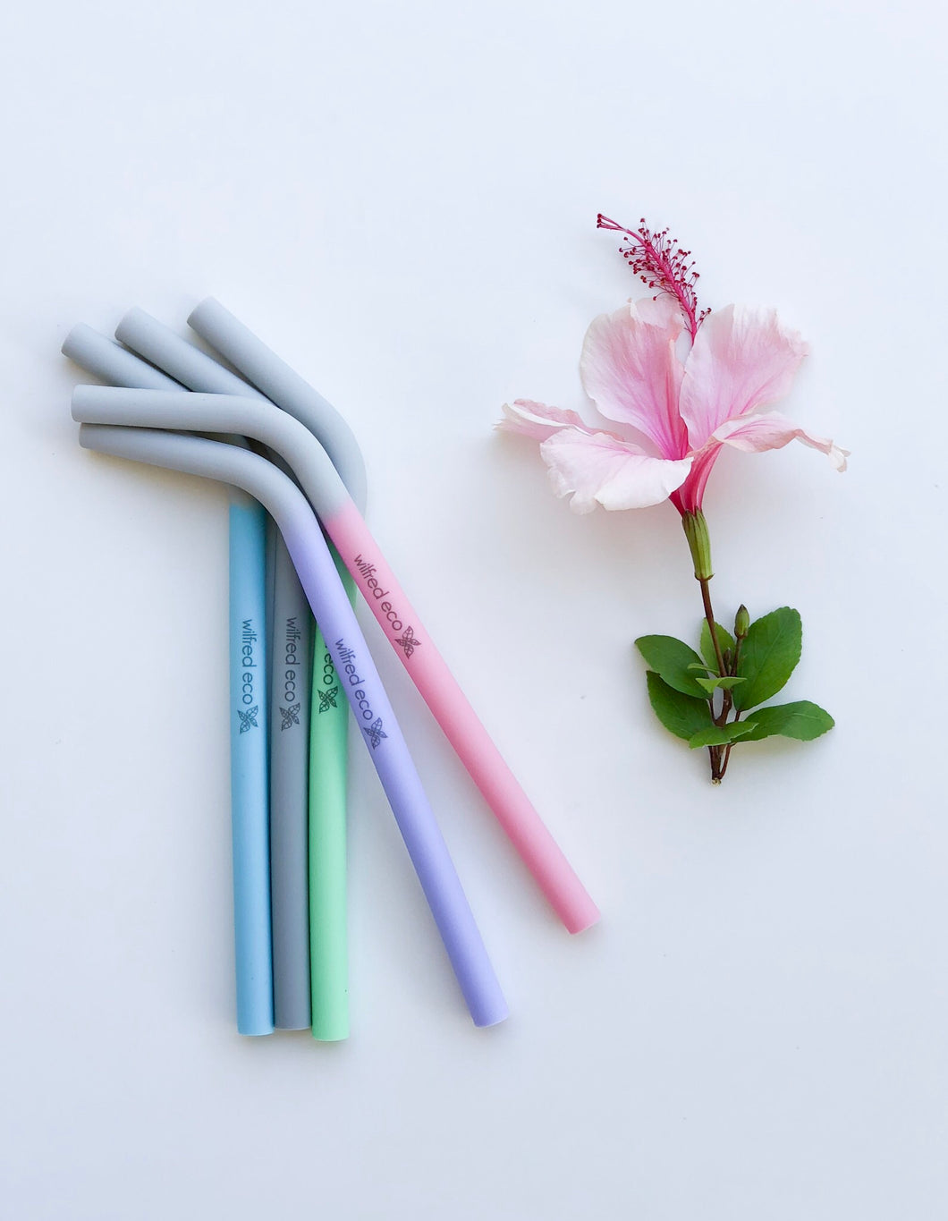Rainbow Five - Reusable Silicone Straws - Wilfred Eco