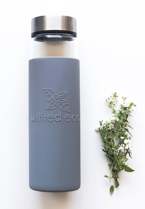 Borosilicate Glass Water Bottle with Stainless Lid- 650ml - Wilfred Eco