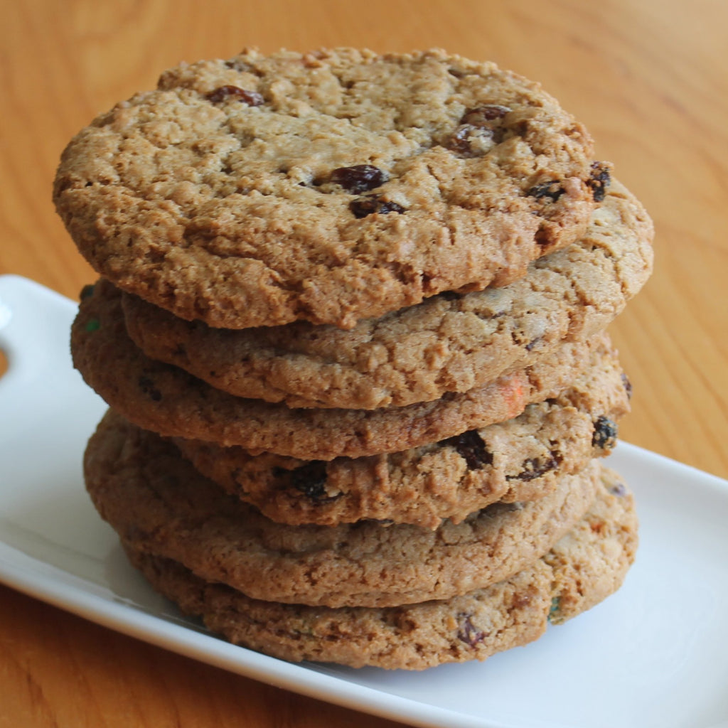 6 Large Oatmeal Raisin Cookies