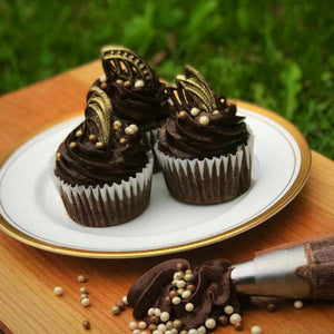 12 Gluten Free Double Chocolate Cupcakes