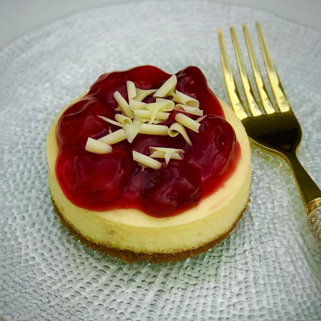 2 Individual Cherry Cheesecake