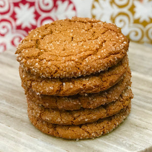 6 Large Ginger Cookies