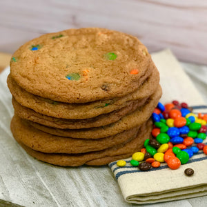6 Large M & M Cookies