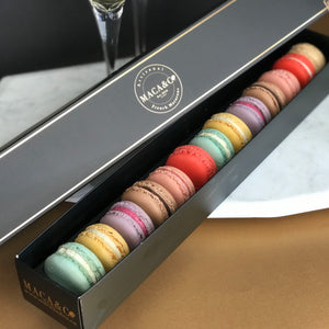 Dozen Assorted Boxed Macarons + 1 Bonus Surprise Flavour