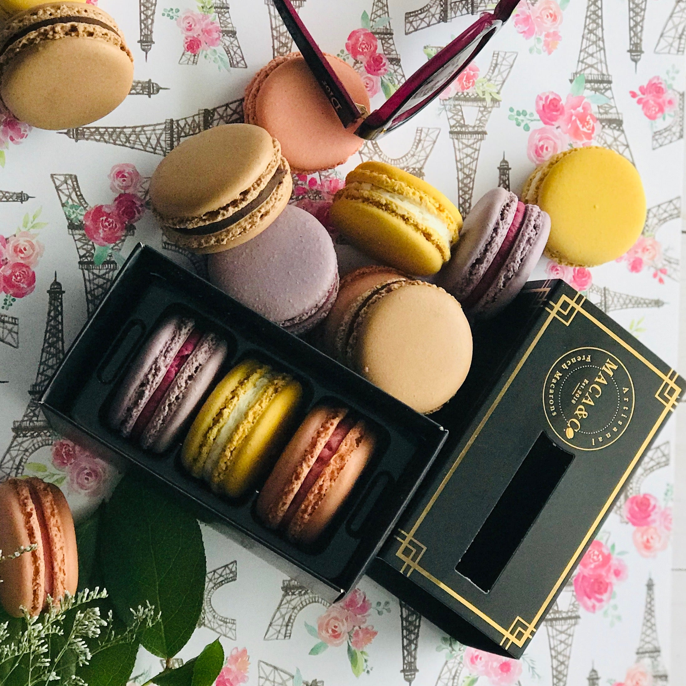 3 Assorted Trio Boxed Macarons