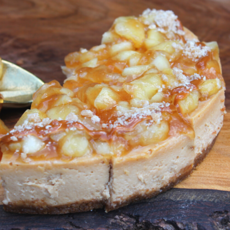 Apple Caramel Cheesecake