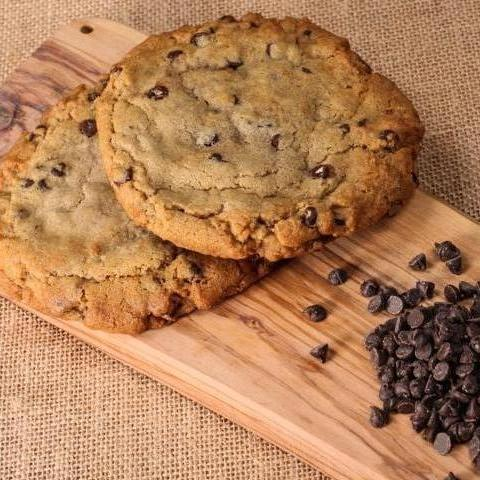 6 Large Chocolate Chip Cookies - Bake at home