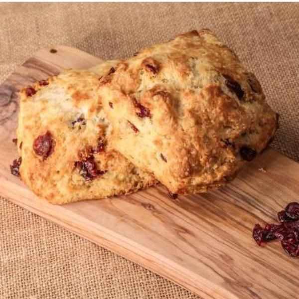 6 Large Lemon Cranberry Scones - Bake at home