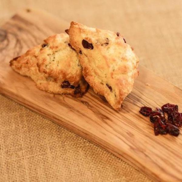6 Mini Lemon Cranberry Scones