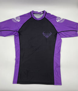 Brazilian Jiu Jitsu Ranked Rash Guard - Purple Belt