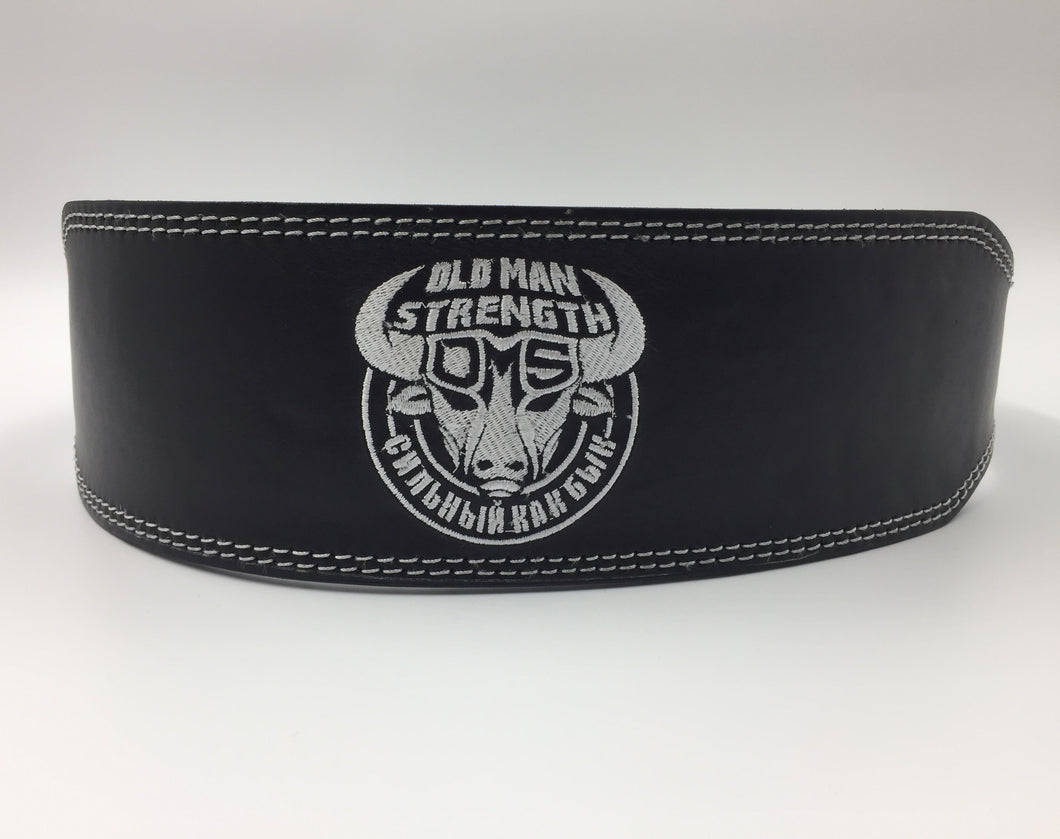 Old Man Strength Leather Weight Lifting Belt