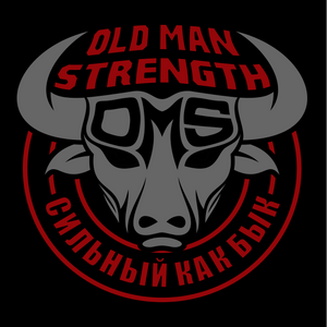Old Man Strength Stickers - The Black and Red
