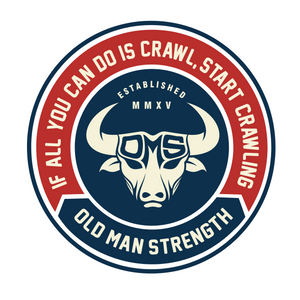 Old Man Strength Stickers - Crawl
