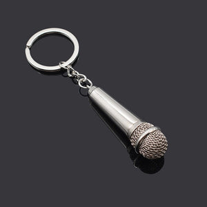 High Quality 2019 New Metal Microphone Keychain