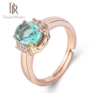 Women's Bezel Setting Rings  with 925 Sterling Silver