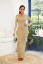 Load image into Gallery viewer, Simple Casual Stretchy Long Sleeve O-neck Dress